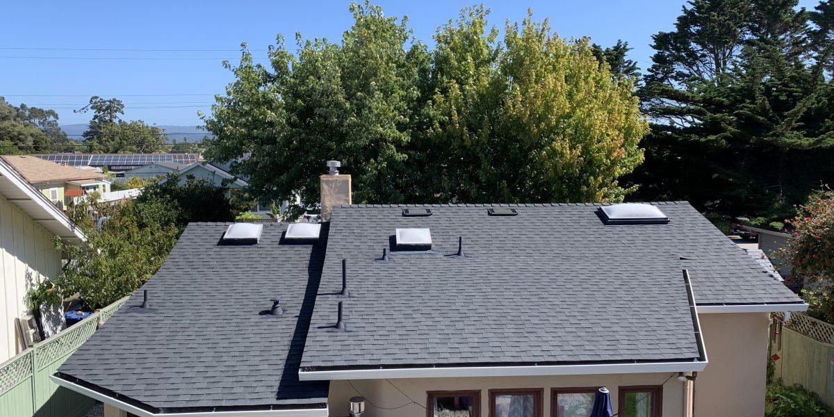 Black Shingle Roof on Residential Home in Pleasure Point, CA near Santa Cruz