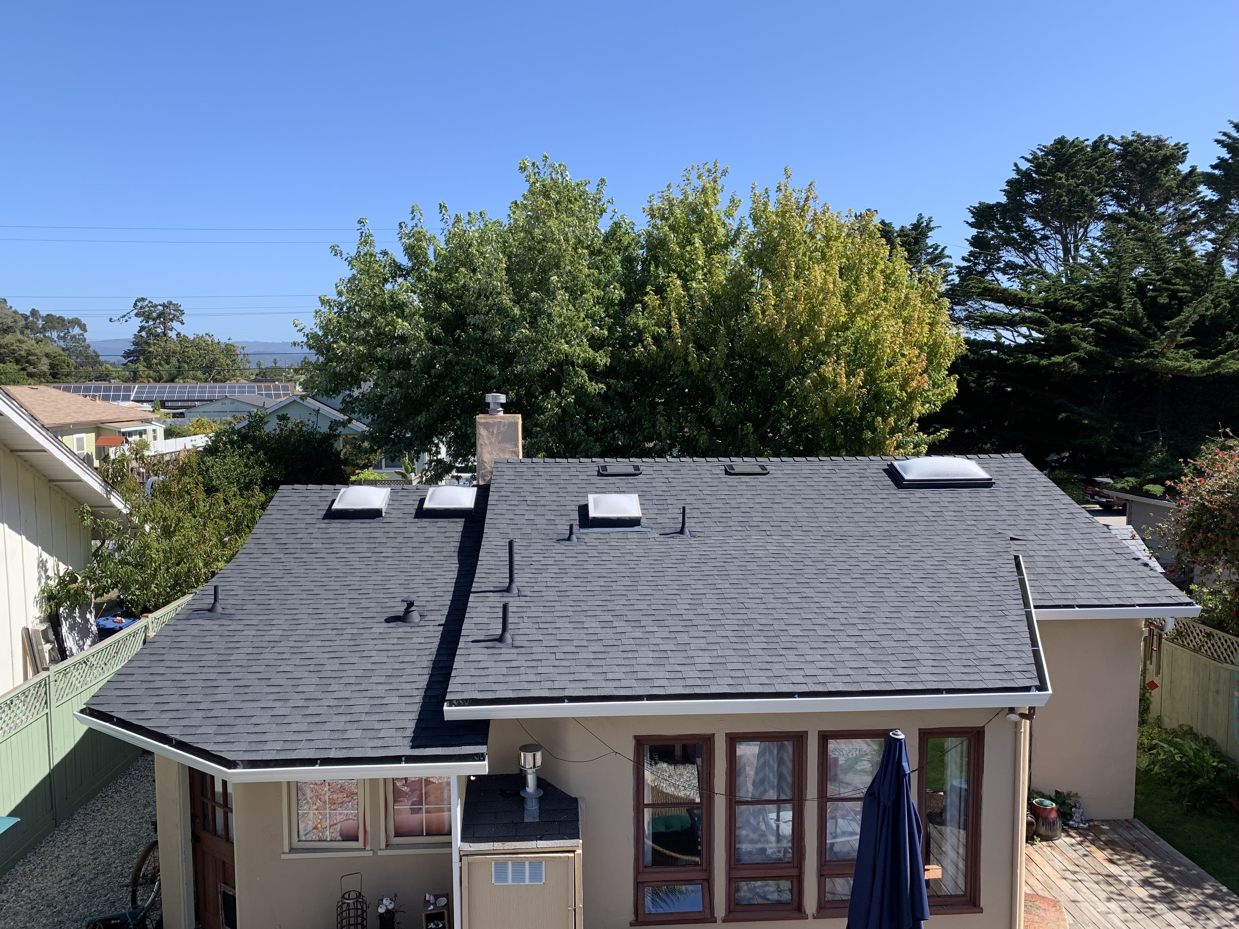 Black Shingle Roof on Residential Home in Pleasure Point, CA near Santa Cruz