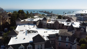 Commercial Flat Roof Install in Santa Cruz County California by Redwood Roofing and Repair