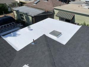 Commercial roofing project completed by roofing company in Santa Cruz California