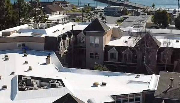 Featured image of a commercial flat roof install completed by Redwood Roofing in Santa Cruz County California