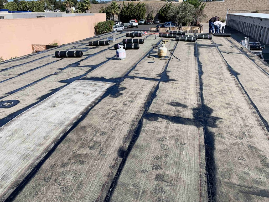 Commercial roof repair completed by a local roofing contractor in Capitola, CA - Redwood Roofing and Repair